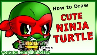 Learn to Draw a Ninja Turtle - Art Lessons Fun2draw Drawing Tutorial
