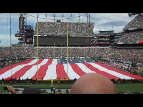 Philadelphia Eagles 9/11 Opening day fighter jet fly by 2016