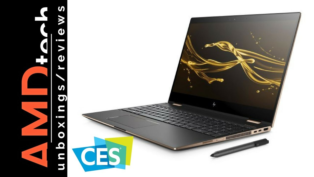 CES 2018: New HP Spectre x360 15 (2018) & New HP Envy x2