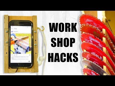 5 Quick WORKSHOP Hacks /  Woodworking Tips and Tricks