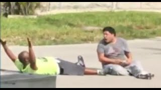 Black Therapist with Autistic Patient Shot by Police While on Ground with Hands Up Charles Kinsey, a therapist who works with people with disabilities, says police shot him while he was on the ground with his hands in the air and trying to help a ...