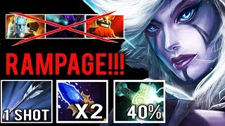 NEW IMBA RAMPAGE x2 Arrow Shot Scepter Mjollnir Jungle Drow Counter Lancer EZ 7.21 Dota 2