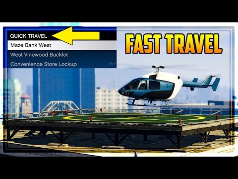 GTA 5 CEO TIPS & TRICKS - How To Fast Travel & Repair Helicopters for Free!