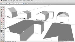 SketchUP 2013 Tutorial | Using Follow Me - Complex Roof Pitches