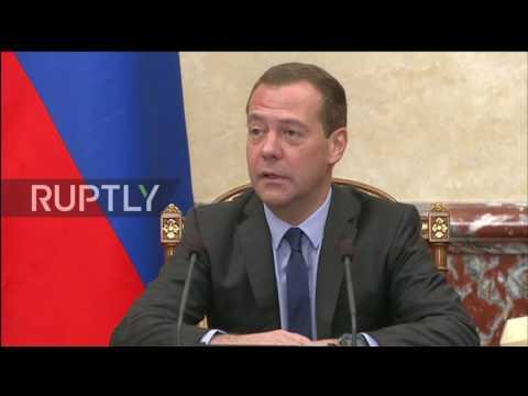 Russia: 'Let me speak from my heart' Medvedev jokingly mocks newly appointed Deputy PM Mutko