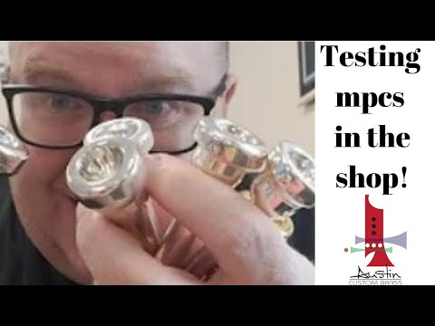 Testing out some cool mouthpieces at the shop