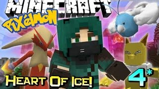 GYM BADGE BATTLE! | Minecraft PIXELMON Heart Of Ice Adventure! Custom Map Ep 4