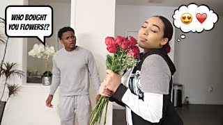 COMING HOME WITH FLOWERS PRANK ON BOYFRIEND! *HE FLIPS*