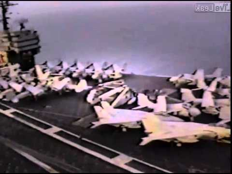 Navy pilots prank the crew of a US Supercarrier in the Mediterranean Sea