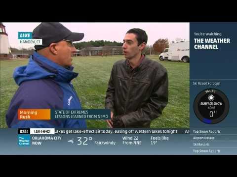 Jon Alba, Q30 TV, Quinnipiac University Featured on The Weather Channel