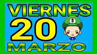 Resultado de las loterías del día viernes 20 de Marzo de 2020