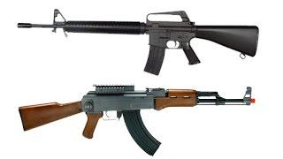 Автоматы АК 47 и М16. Борьба Вооружения Кто Лучше...