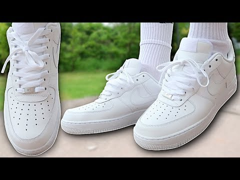 How To Lace Nike Air Force 1s (4 Ways w/ ON FEET) | Featuring 'AF1 Lows' (THE BEST WAY!)