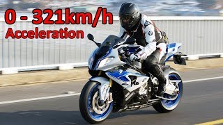 BMW S1000RR - Acceleration 0-321km/h & Startup & Exhaust Sound…