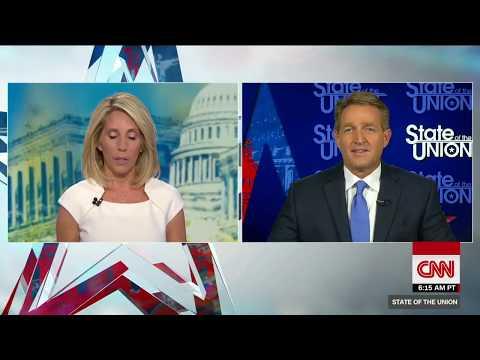 GOP senator Jeff Flake at odds with President Trump