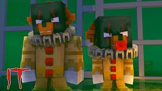 Minecraft IT - IT THE SCARY CLOWN TURNS BABY MAX & DONUT INTO SCARY CLOWNS IN THE SEWERS!!