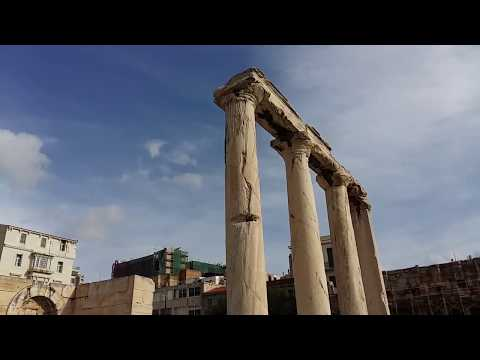 Agora of Classical Athens near Monasitakia Square Athens Greece December 2017-2018