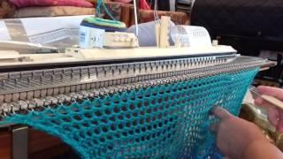 Crochet-like Stitch on Knitting Machine