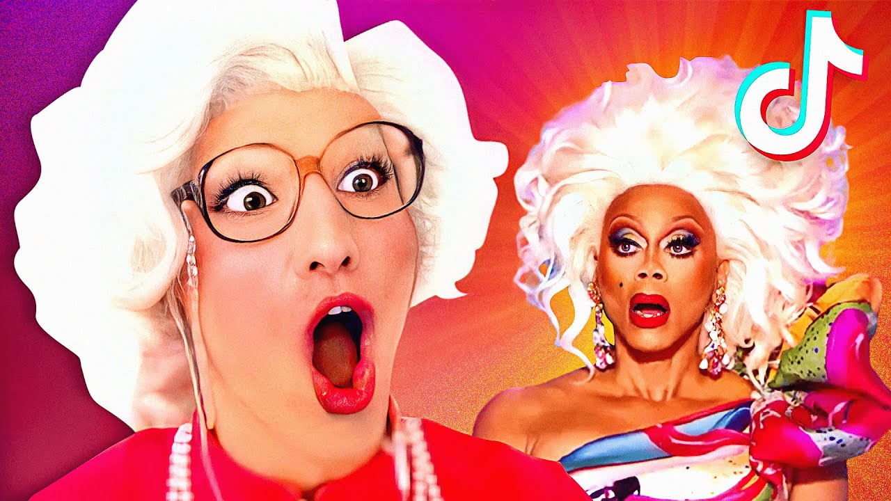 Did She REALLY SAY THAT on RuPaul's Drag Race!? - Granny REACTS to FUNNY TIK TOKS