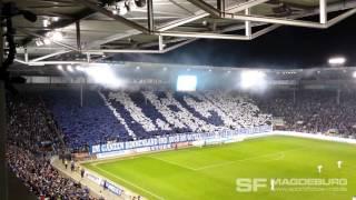 1. FC Magdeburg gegen FC Erzgebirge Aue - Choreo Block U (HD Apr. 2016)