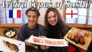 海外の寿司との違いに驚愕!外国人カップルが寿司を爆食!/ Weird and Great Sushi Experience!