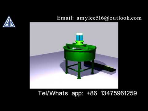 Mixer machine for producing organic fertilizer