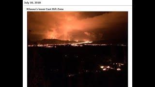 7/11/2018 -- Multiple M5.0+ earthquakes across Pacific -- Hawaii volcanoes update -- Mauna Loa moves