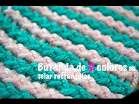 bufanda de colores bufanda bicolor telar rectangular