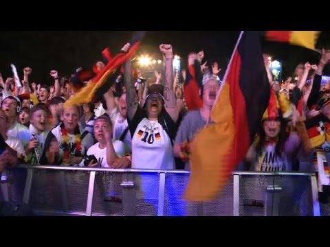 Germany celebrates win over Brazil