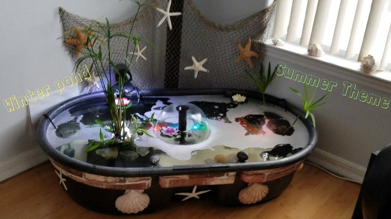 Indoor Pond Ideas Jumbo Size Goldfish How To Set Up An