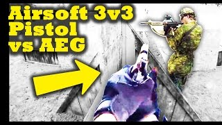3v3 Airsoft War Pistol vs AEG - Combat Roll