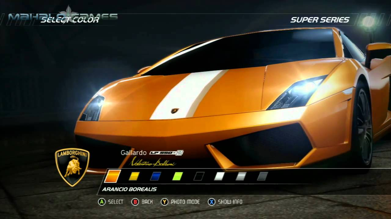 Need For Speed Hot Pursuit  Cars  Lamborghini Gallardo LP 550 2 Valentino  Balbon   YouTube