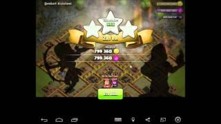 Clash Of Clans 3 duvar yıkıcı ile köyü 3 lemek