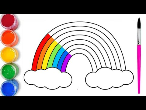 How to draw and paint a rainbow