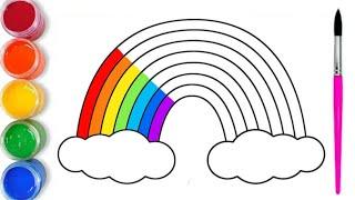 Como Dibujar y Pintar un Arco iris | Videos para Niños | Colores para Niños