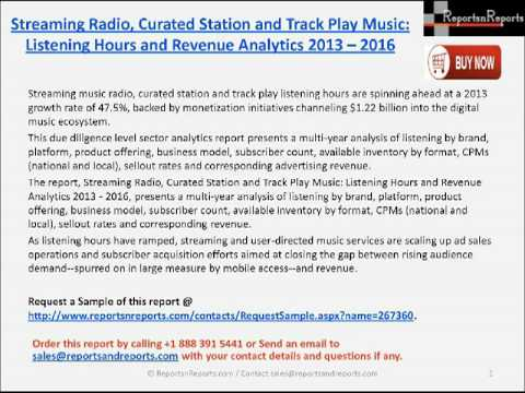 Streaming Radio, Curated Station and Track Play Music Industry Mp3