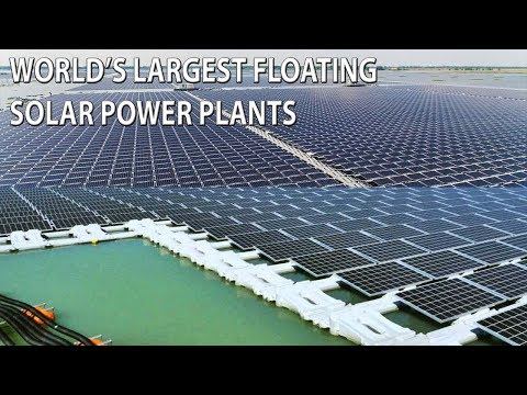 Largest Floating Solar Power Plants in The World! The Countries' Supersized Floating Solar Farms