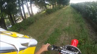 New Honda CRF250X riding fast on open land - GoPro Hero 2
