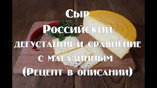 Сыр российский , дегустация и сравнение с магазинным   Ссылка на рецепт в описании видео