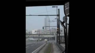 富山ライトレール上りインテック本社前 富山駅北20090411