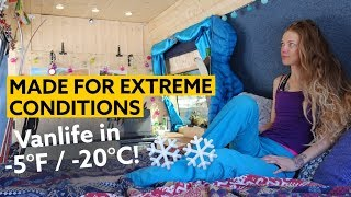 Female Skier Converts a Van to withstand Extreme Conditions | Vanlife in -5°F (-20°C)