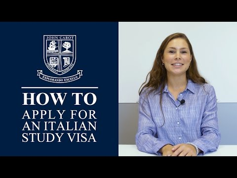 How To Apply for an Italian Study Visa - John Cabot University