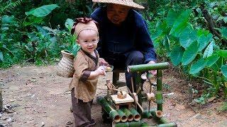 农村老爷爷展示多种手工艺绝活,作品精湛,不愧是几十年的老木匠