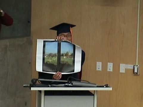 Valedictorian speech for 2009 Master and PhD graduates, College of Optical Sciences, UA