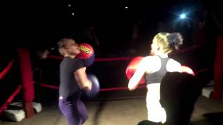 Foxy Boxing @ the Elmira Cabin, Nina vs Angelica Round 1
