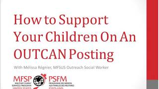 Live Online with CAF Families How to Support Your Children While Living OUTCAN 2019