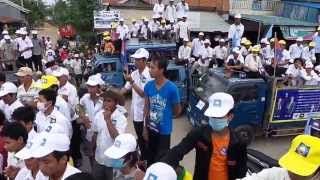 Kem sokha and Sam Rainsy at takeo CNRP Campaign