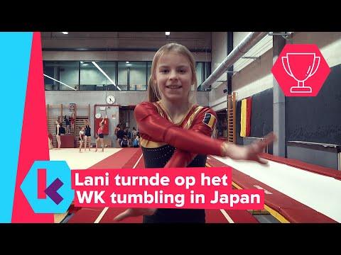 Lani haalde een vijfde plaats op het WK tumbling!
