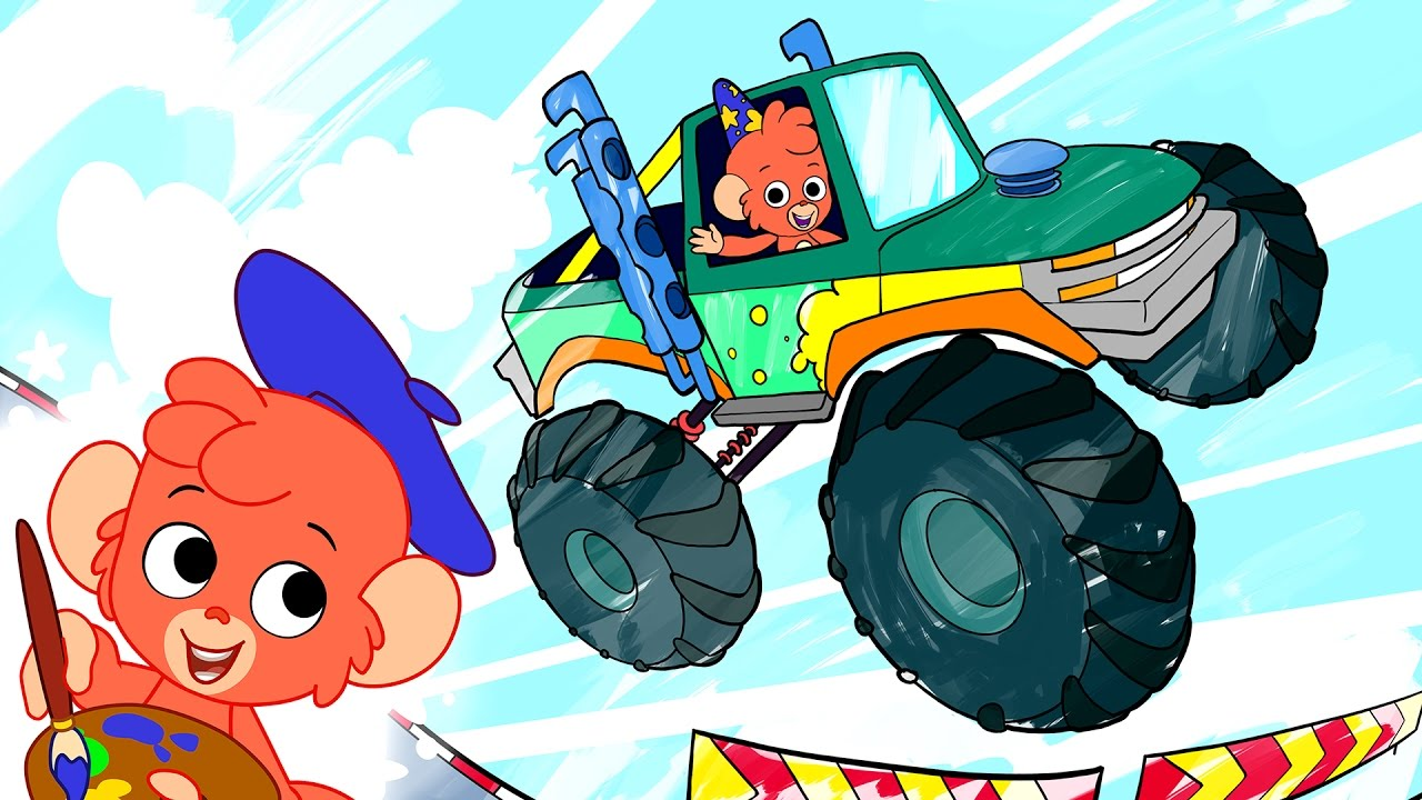 Monster Truck Coloring Book for Kids: A Coloring Book for Boys ... | 720x1280
