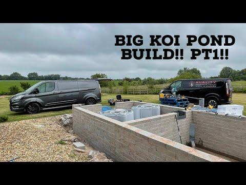 BIG KOI POND BUILD PT1!!